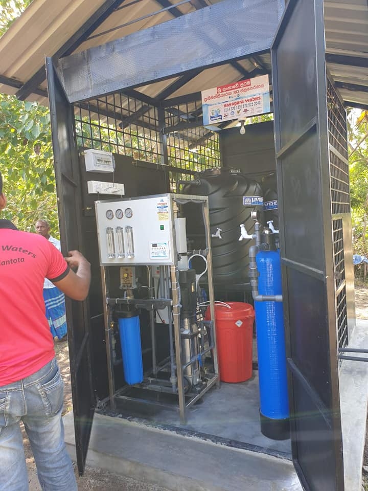 water purification plant to the village of Adigama
